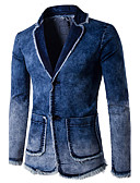 cheap Men's Exotic Underwear-Men's Street chic Slim Blazer-Solid Colored,Tassel / Long Sleeve
