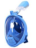 billige Brudeslør-Dykkermasker / Snorkelmaske Anti-Tåke, Heldekkende maske, Under vann Enkelt vindu - Svømming, Dykking Silikon - til Barn Blå / Rosa