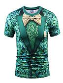 זול שמלות נשים-צווארון עגול פאנק & גותיות בוהו Party ספורט מועדונים טישרט - בגדי ריקוד גברים דפוס