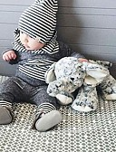 baratos Macacões & Bodies de Bebê-bebê Para Meninos Desenho / Listras Casual Listrado / Estampa Colorida Manga Longa Padrão Padrão Algodão Conjunto Cinzento / Bébé
