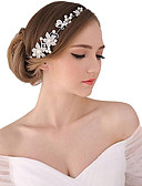 Χαμηλού Κόστους Λουλουδάτα φορέματα για κορίτσια-Μαργαριτάρι / Κρύσταλλο / Ύφασμα Τιάρες / Κεφαλές / Λουλούδια με 1 Γάμου / Ειδική Περίσταση / Πάρτι / Βράδυ Headpiece / Κράμα