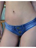 preiswerte Damen Nachtwäsche-Damen Tiefe Hüfthöhe Eng / Jeans Hose Solide / Sommer / Sexy