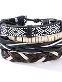 cheap Men's Swimwear-Men's Leather Bracelet - Leather Vintage, Punk Bracelet Black For Christmas Gifts / Anniversary / Birthday