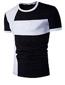 baratos Camisetas & Regatas Masculinas-Homens Camiseta - Esportes Activo Estampado, Estampa Colorida Algodão Colarinho de Camisa Delgado