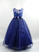 preiswerte Kleider für die Hochzeitsfeier-Kinder Mädchen Süß Party Solide Spitze / Mehrschichtig Ärmellos Kleid