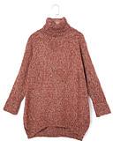 cheap Women's Blazers & Jackets-Women's Daily Street chic Solid Colored Long Sleeve Regular Pullover, Turtleneck Fall / Winter Green / Wine / Dark Gray L / XL / XXL