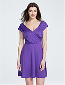 cheap Women's Dresses-Women's Street chic A Line Dress - Solid Colored Ruched