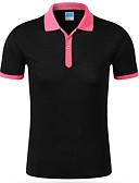 baratos Camisetas & Regatas Masculinas-Homens Camiseta - Trabalho Activo Estampa Colorida Algodão Colarinho de Camisa / Manga Curta