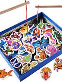 billige Trendy klokker-Byggeklosser fiske Toys Pedagogisk leke Fisk Magnetisk Klassisk Gutt Jente Leketøy Gave