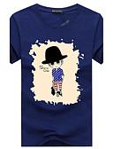 povoljno Muške majice i potkošulje-Veći konfekcijski brojevi Majica s rukavima Muškarci Dnevno Pamuk Okrugli izrez Print