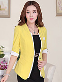 cheap Women's Blazers & Jackets-Women's Work Blazer - Solid Colored, Classic