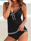 cheap Women's Swimwear & Bikinis-Women's Halter Neck Tankini - Color Block