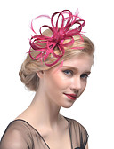 cheap Women's Headpieces-Tulle / Rhinestone / Feather Headbands / Fascinators / Headwear with Floral 1pc Wedding / Special Occasion Headpiece
