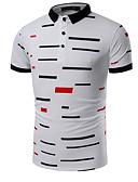 baratos Pólos Masculinas-Homens Polo Estampado Algodão Colarinho de Camisa