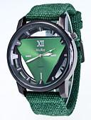 baratos Relógio Elegante-Homens Relógio de Pulso Quartzo 30 m Legal / Tecido Banda Analógico Casual Preta / Branco / Vermelho - Vermelho Verde Rosa claro