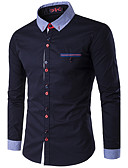 זול חולצות לגברים-אחיד צווארון קלאסי רזה עסקים סוף שבוע חולצה - בגדי ריקוד גברים