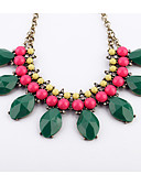cheap Women's Dresses-Women's Synthetic Emerald Strands Necklace - Unique Design, Euramerican Dark Green Necklace For Christmas Gifts, Casual