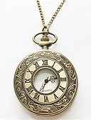 hesapli Erkek Saatleri-Erkek Cep kol saati Quartz Gümüş / Altın Rengi Analog Altın Gümüş