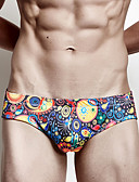 cheap Men's Swimwear-Men's Sporty Bottoms - Geometric Briefs