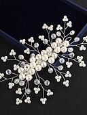 billige Brudekjoler-Krystal / Imiteret Perle Tiaras / Pandebånd / Blomster med Blomster 1pc Bryllup / Speciel Lejlighed / udendørs Medaljon