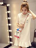 저렴한 티셔츠-여성용 솔리드 티셔츠 폴리에스테르