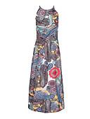 tanie Sukienki-Damskie Święto / Plaża Boho / Moda miejska Luźna Sukienka - Geometric Shape, Nadruk Midi