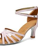 ieftine Ținută Dans din Buric-Pentru femei Pantofi Dans Latin Imitație de Piele Călcâi Toc Personalizat Personalizabili Pantofi de dans Negru și Auriu / Negru și
