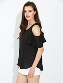halpa T-paita-Naisten Rypytetty Yhtenäinen Pusero / Kevät