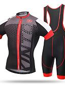 hesapli Külotlar-XINTOWN Erkek Kısa Kollu Askılı Şortlu Bisiklet Forması - Siyah/kırmızı Bisiklet Önlüğü Tayt Forma, Hızlı Kuruma, Ultravioleye Karşı