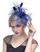 cheap Mother of the Bride Dresses-Tulle / Feather / Net Fascinators / Headwear with Floral 1pc Wedding / Special Occasion Headpiece