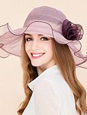 baratos Véus de Noiva-Seda Chapéus com 1 Casamento / Ocasião Especial / Casual Capacete