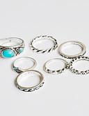 billige Trendy klokker-Dame Turkis Ring - Blomst Unikt design, Klassisk, Bohemsk En størrelse Sølv Til Julegaver Bryllup Fest / Spesiell Leilighet / jubileum / Bursdag / Innflytningsfest / Gratulerer