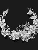 olcso Menyasszonyi fátyol-Gyöngy / Gyöngyutánzat / Ötvözet tiaras val vel 1 Esküvő / Különleges alkalom / Szabadtéri Sisak