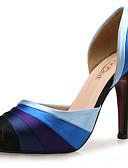 povoljno Baloner-Žene Cipele Sintetika / Svila / Tkanina Ljeto / Jesen Klub obuća Sandale Stiletto potpetica Peep Toe Plava / Vjenčanje / Formalne prilike