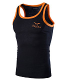 cheap Men's Tees & Tank Tops-Men's Sports Cotton Tank Top - Solid Colored Embroidered Round Neck