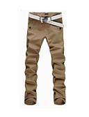 זול מכנסיים ושורטים לגברים-בגדי ריקוד גברים בסיסי רזה / צ'ינו מכנסיים אחיד