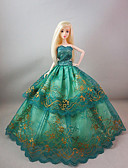 olcso Dresses For Date-Party / Estélyi Ruhák mert Barbie baba Csipke / Szatén Ruha mert Lány Doll Toy