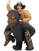 baratos Cachecol Feminino-Chimpanzé Fantasias de Cosplay Artigos de Halloween Baile de Máscara Homens Mulheres Cosplay de Filmes Preto Mais Acessórios Dia Das Bruxas Carnaval Dia da Criança Poliéster