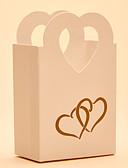 preiswerte Weinflaschen Gastgeschenke-Kreisförmig Quadratisch Herz Kartonpapier Geschenke Halter mit Print Geschenkboxen Geschenk Schachteln Süßigkeiten Gläser und Flaschen