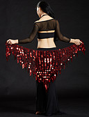povoljno Plesna oprema-Trbušni ples Šalovi za bokove za trbušni ples Žene Seksi blagdanski kostimi Poliester Šljokice Trbušni ples Hip Šal