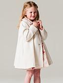 tanie Kurtki i płaszcze dla dziewczynek-Brzdąc Dla dziewczynek Elegancka odzież Solidne kolory / Moda Długi rękaw Kurtka / płaszcz
