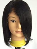 halpa Pluskokoiset mekot-Aidot hiukset Full Lace Peruukki Bob-leikkaus tyyli Brasilialainen Suora Peruukki 130% Hiusten tiheys ja vauvan hiukset Luonnollinen hiusviiva Afro-amerikkalainen peruukki 100% käsinsidottu Naisten