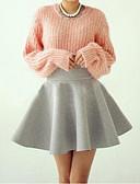 olcso Női kétrészes kosztümök-Női Póló - Egyszínű Szoknya / Nyár