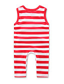 cheap Baby Girls' One-Piece-Baby Girls' Stripe Fashion One-Pieces, Cotton Summer Stripes Sleeveless Fuchsia