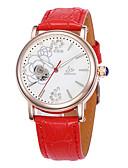 tanie Zegarki mechaniczne-Damskie zegarek mechaniczny Gorąca wyprzedaż Skóra Pasmo Urok / Modny Biały / Czerwony / Purpurowy
