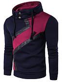 cheap Men's Hoodies & Sweatshirts-Men's Long Sleeve Sweatshirt - Color Block