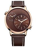 baratos Relógio Elegante-Homens Relógio Casual / Relógio de Moda / Relógio Elegante Japanês Relógio Casual Couro Legitimo Banda Amuleto Preta / Marrom