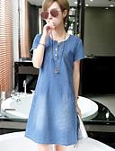 baratos Vestidos Plus Size-Mulheres Activo Tamanhos Grandes Calças - Sólido Côr Pura Azul / Ganga
