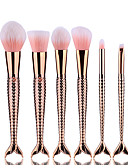 cheap Women's Dresses-rose gold double fish tail makeup brush set blush brush eyeshadow eyeliner brush eyelash brush dyeing brush powder brush sponge synthetic hair