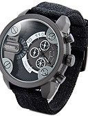 cheap Military Watches-Men's Wrist Watch Chinese Calendar / date / day / Water Resistant / Water Proof / Creative Fabric / Nylon Band Charm / Vintage / Casual Black / Green / Stainless Steel / Dual Time Zones